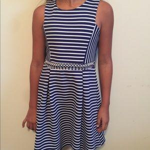 Monteau girl. Nautical striped dress size 7/8